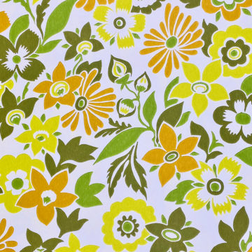 Orange and Green Floral Wallpaper 3