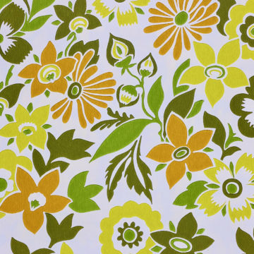 Orange and Green Floral Wallpaper 4