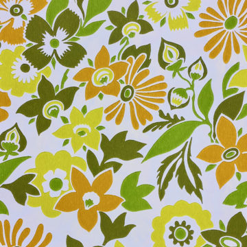 Orange and Green Floral Wallpaper 5