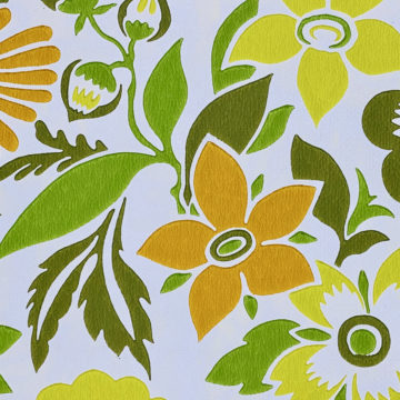Orange and Green Floral Wallpaper 7