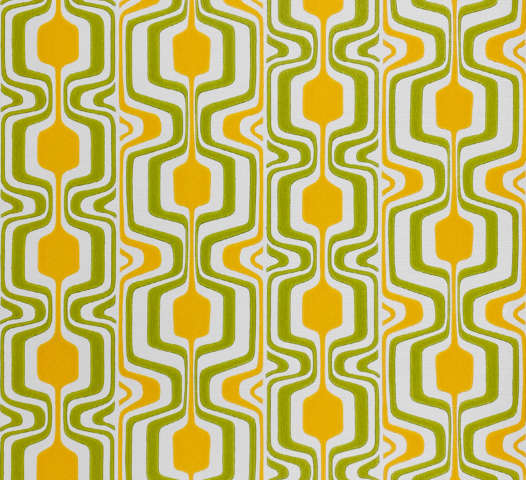 Orange and Green Geometric Retro Wallpaper