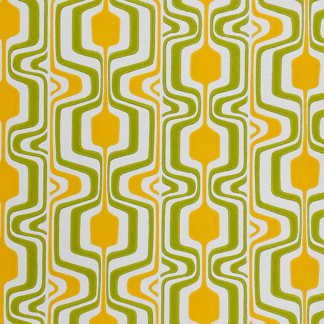 Orange and Green Geometric Retro Wallpaper 2
