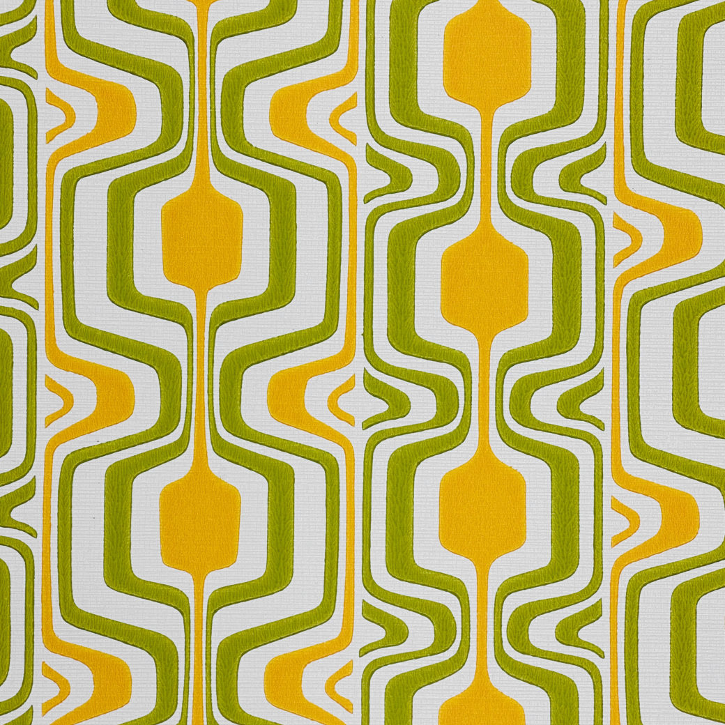 Orange and Green Geometric Retro Wallpaper 3
