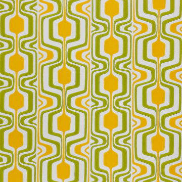 Orange and Green Geometric Retro Wallpaper 1