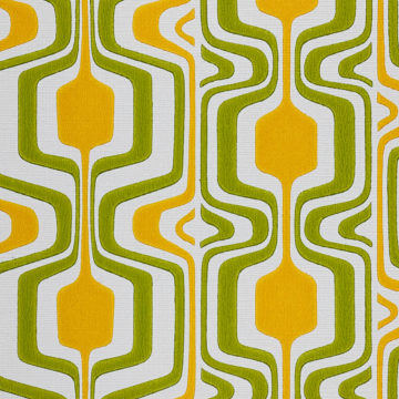 Orange and Green Geometric Retro Wallpaper 4