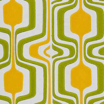 Orange and Green Geometric Retro Wallpaper 5