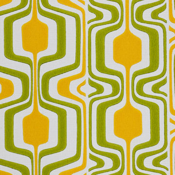 Orange and Green Geometric Retro Wallpaper 6