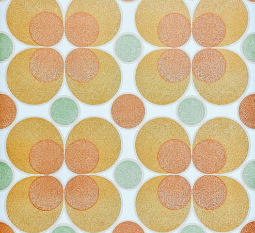 Vintage Retro Orange Circles Wallpaper