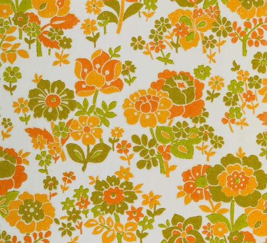 Orange floral wallpaper 2