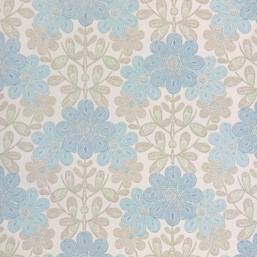 Vintage blue floral wallpaper
