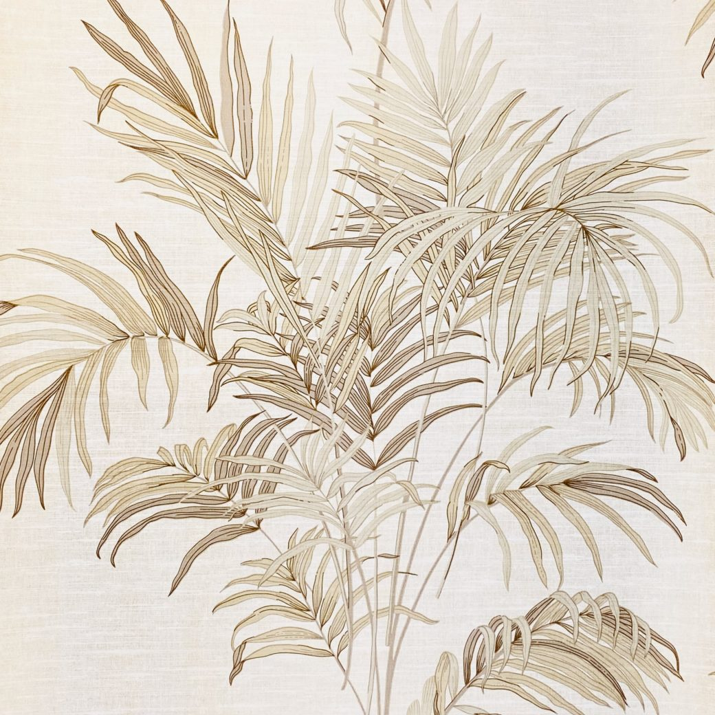 Palm Leaf Floral Wallpaper with Golden Glow1