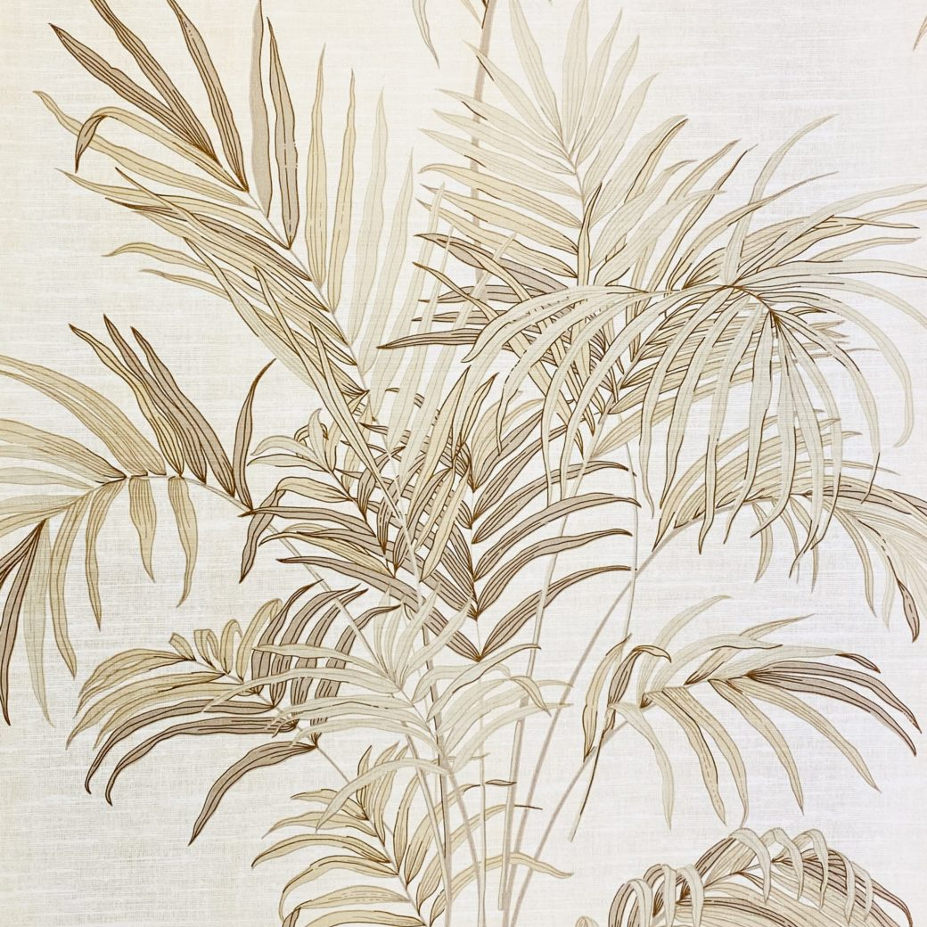Palm Leaf Floral Wallpaper with Golden Glow2