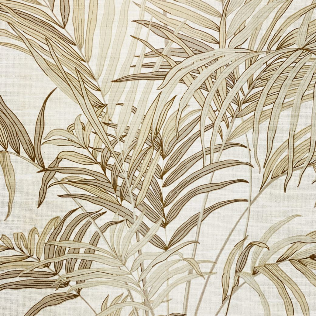 Palm Leaf Floral Wallpaper with Golden Glow4
