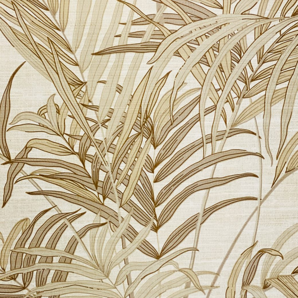 Palm Leaf Floral Wallpaper with Golden Glow5
