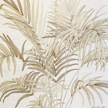 Palm Leaf Floral Wallpaper with Golden Glow3