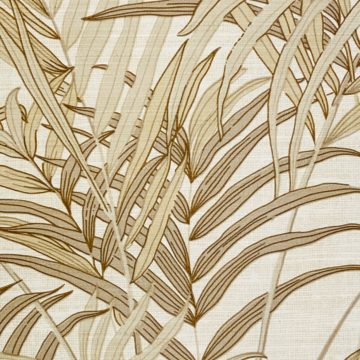 Palm Leaf Floral Wallpaper with Golden Glow6