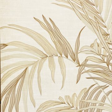 Palm Leaf Floral Wallpaper with Golden Glow7