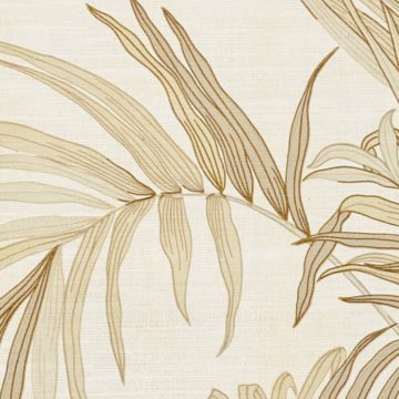 Palm Leaf Floral Wallpaper with Golden Glow8