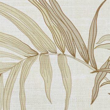 Palm Leaf Floral Wallpaper with Golden Glow9