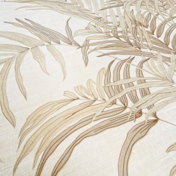 Palm Leaf Floral Wallpaper with Golden Glow10