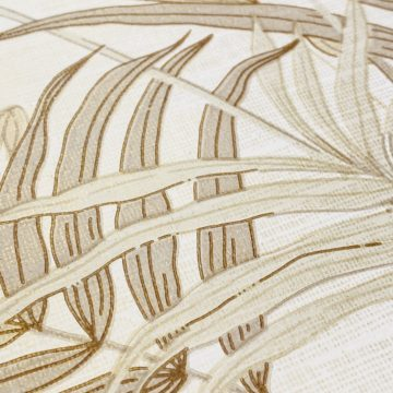 Palm Leaf Floral Wallpaper with Golden Glow13