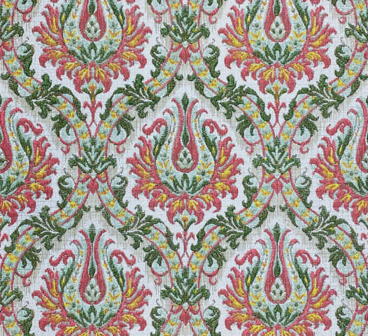 Pink and Green Baroque Wallpaper