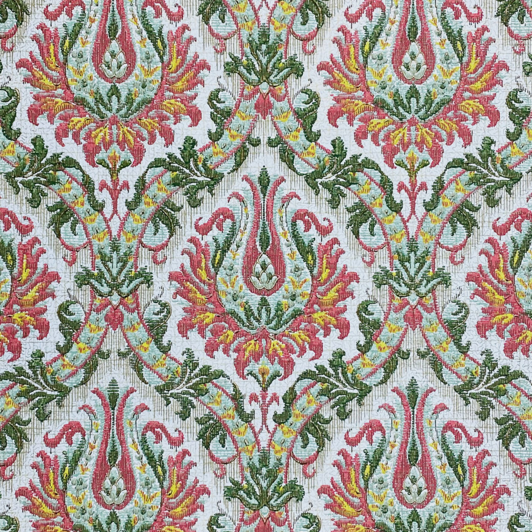 Pink and Green Baroque Wallpaper 2