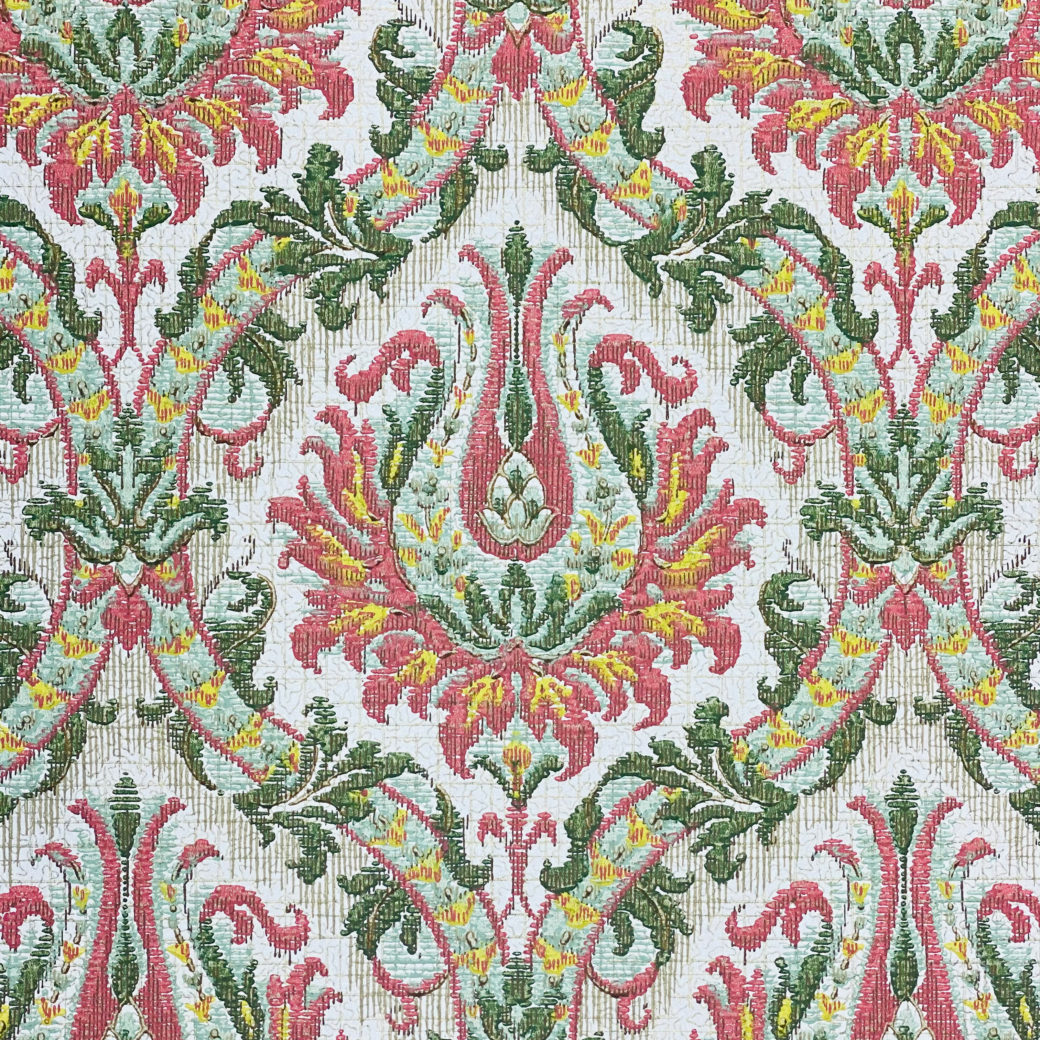 Pink and Green Baroque Wallpaper 4