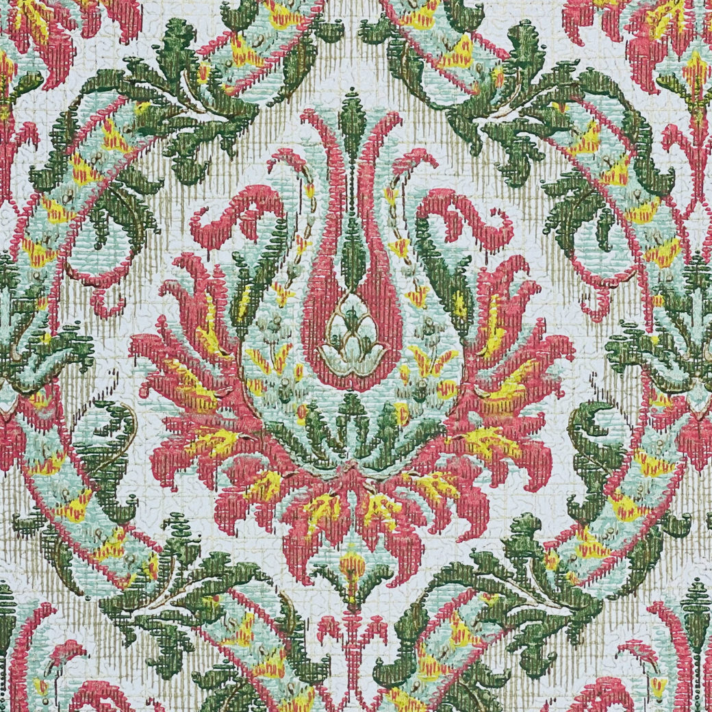 Pink and Green Baroque Wallpaper 6