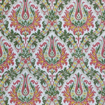 Pink and Green Baroque Wallpaper 1