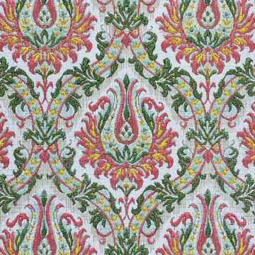 Pink and Green Baroque Wallpaper 3