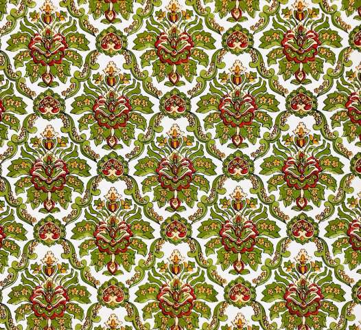 Red and green baroque wallpaper 3