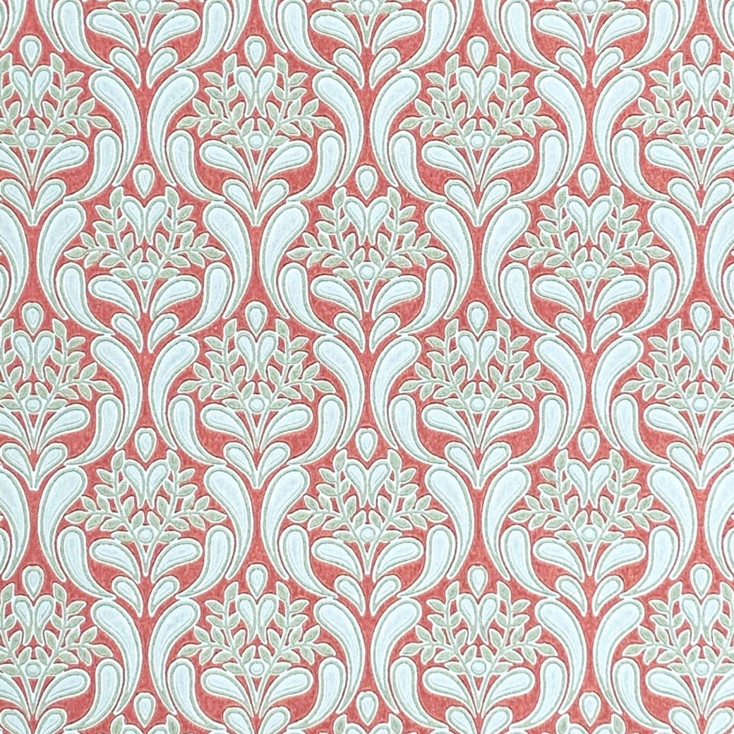 Red baroque wallpaper 7