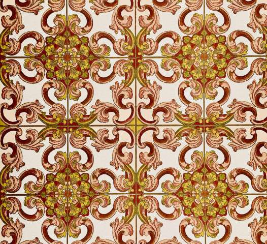 Red baroque wallpaper 2