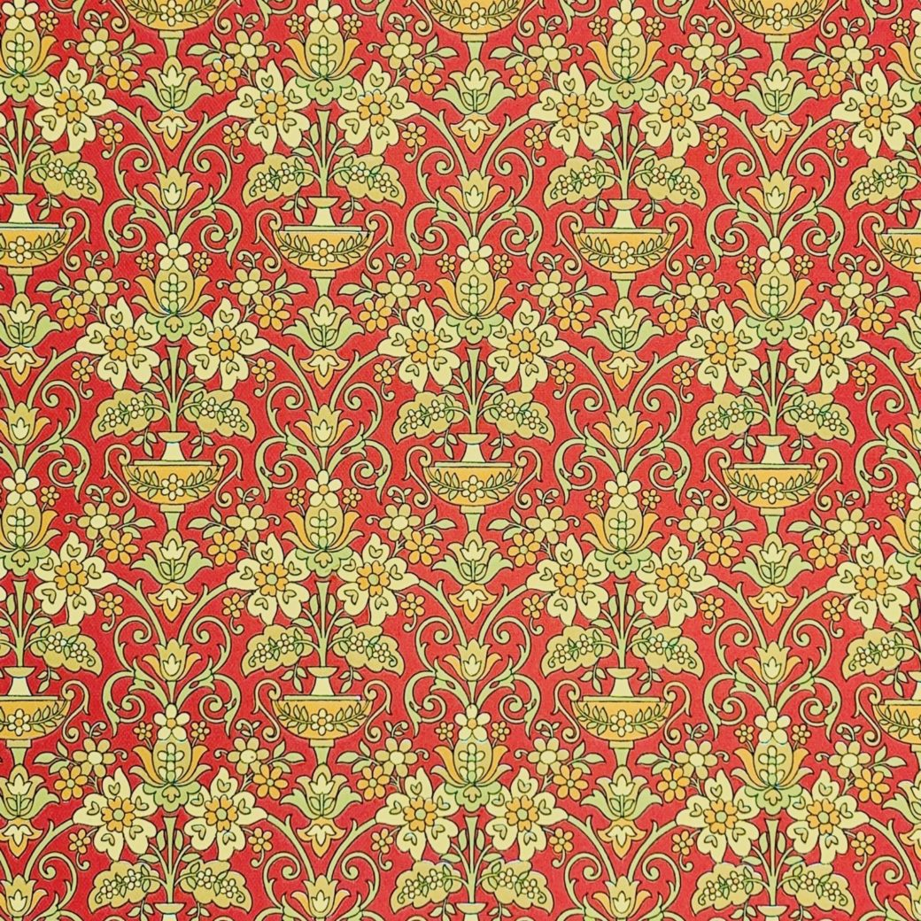 Vintage red baroque wallpaper 1