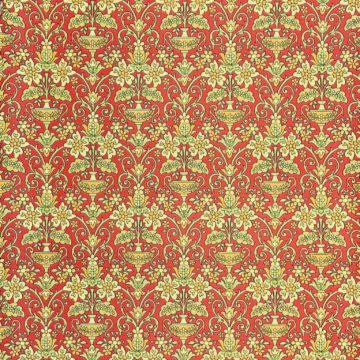 Vintage red baroque wallpaper