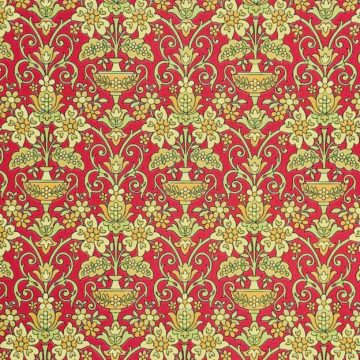 Vintage red baroque wallpaper 2