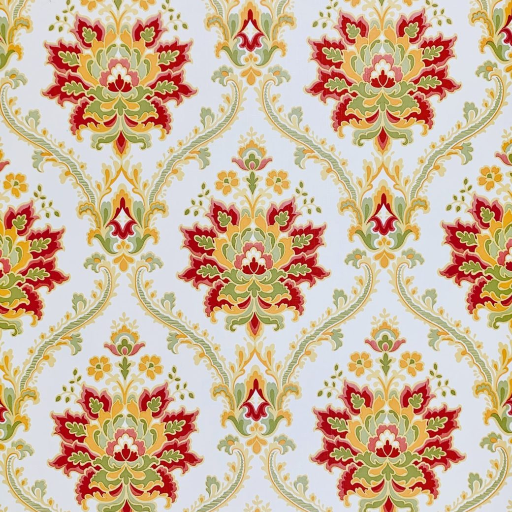 Red damask wallpaper 4