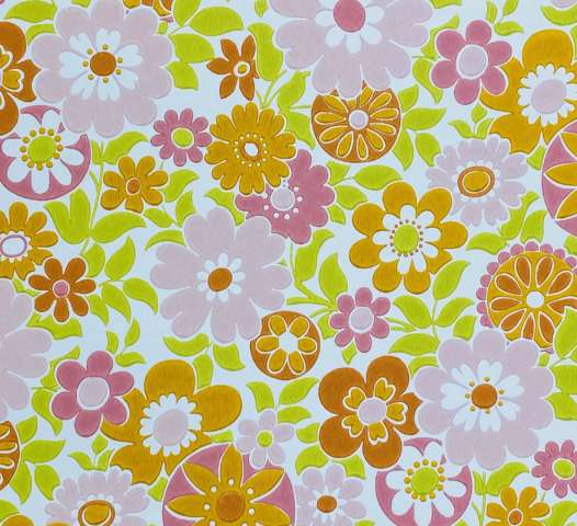 Retro Floral Seventies Wallpaper