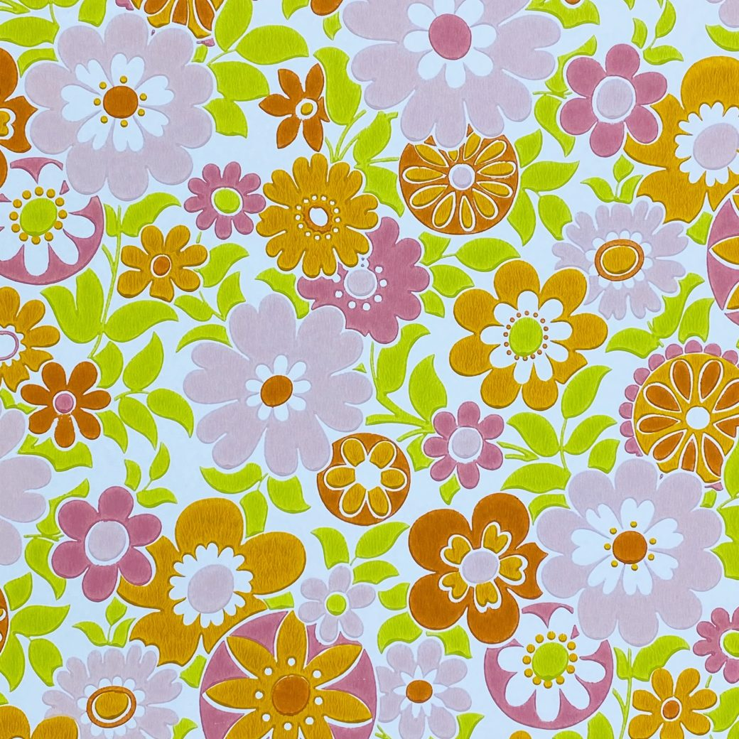 Retro Floral Seventies Wallpaper 6