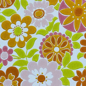 Retro Floral Seventies Wallpaper 3