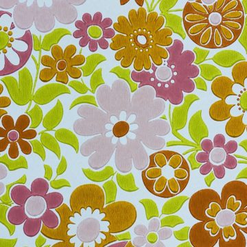 Retro Floral Seventies Wallpaper 4