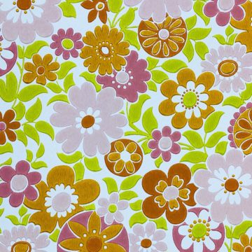 Retro Floral Seventies Wallpaper 5