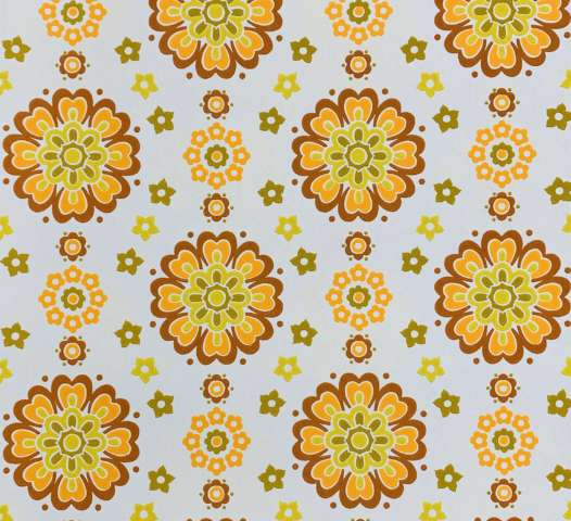 Retro Floral Wallpaper