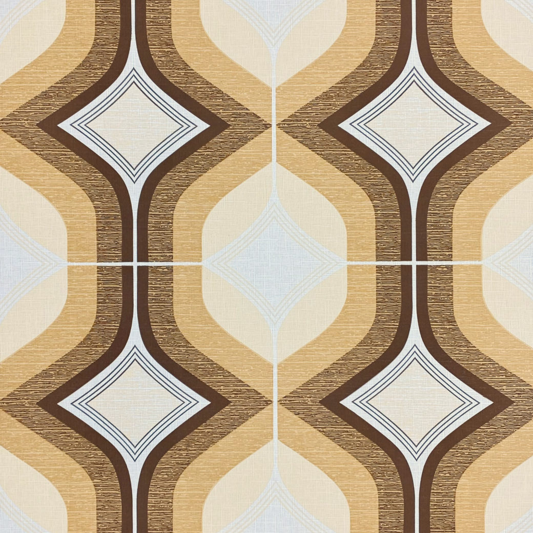 Retro Funky Geometric Wallpaper Brown 1