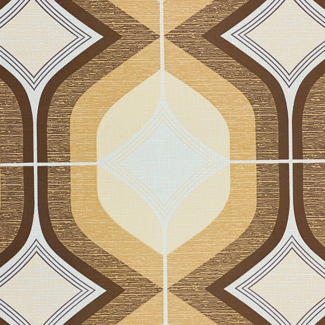 Retro Funky Geometric Wallpaper Brown 4