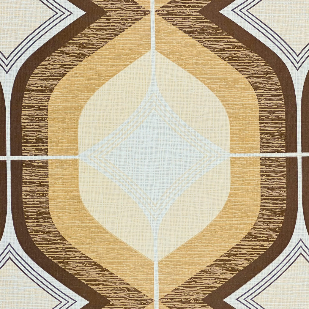 Retro Funky Geometric Wallpaper Brown 5