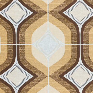 Retro Funky Geometric Wallpaper Brown 3