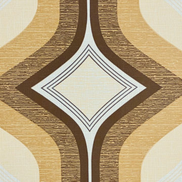 Retro Funky Geometric Wallpaper Brown 6