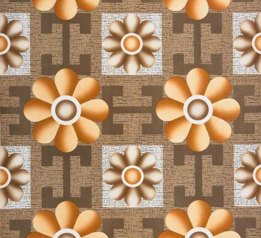 Retro geometric brown vinyl wallpaper 2